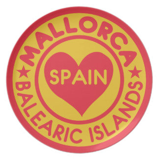 MALLORCA Spain melamine plate