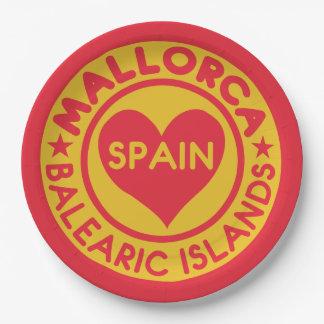MALLORCA Spain paper plates