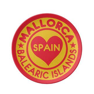 MALLORCA Spain porcelain plates