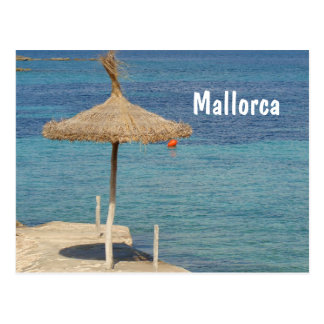 Mallorca - Straw Umbrella Postcard