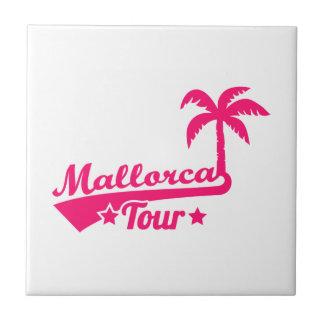 Mallorca Tour Small Square Tile
