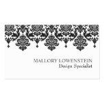 Mallory #1 Chic Black Damask Business Card