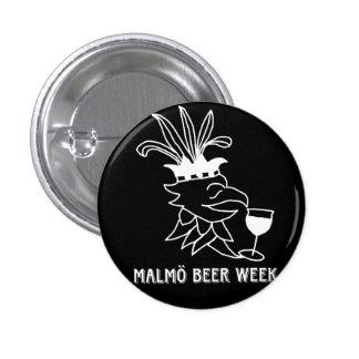 Malmö Beer Week bath give 3 Cm Round Badge