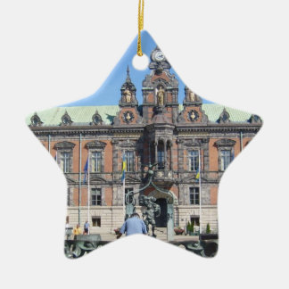 Malmö Sweden - City Hall Ceramic Star Decoration