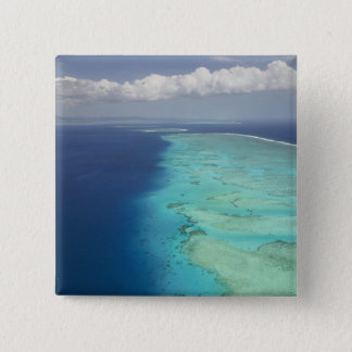 Malolo Barrier Reef off Malolo Island, Fiji 15 Cm Square Badge