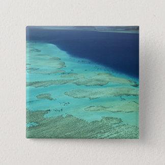 Malolo Barrier Reef off Malolo Island, Fiji 2 15 Cm Square Badge