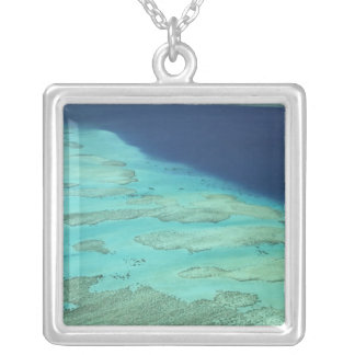 Malolo Barrier Reef off Malolo Island, Fiji 2 Silver Plated Necklace