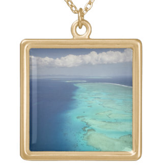 Malolo Barrier Reef off Malolo Island, Fiji Gold Plated Necklace