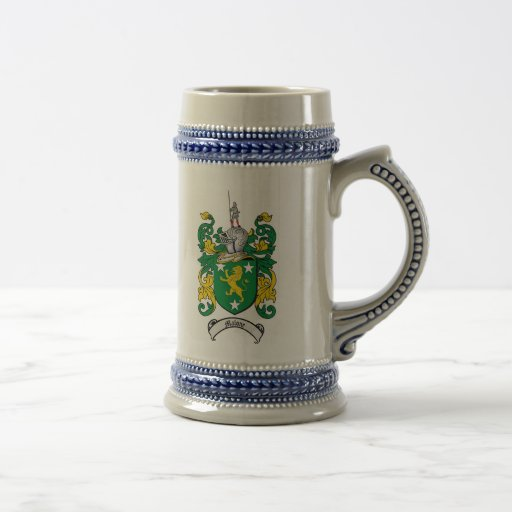 Malone Coat of Arms Stein / Malone Crest Stein Coffee Mug