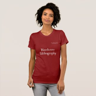 Malone Society Hardcore Bibliography Dark T-Shirt