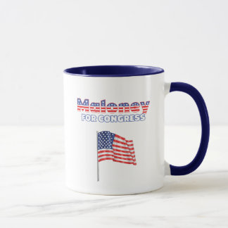 Maloney for Congress Patriotic American Flag Mug