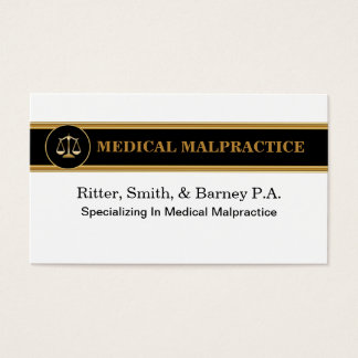 Malpractice Attorney Business Cards
