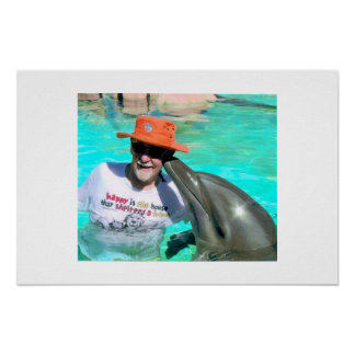 Mal's dolphin kiss poster