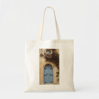 Malta blue door tote bag