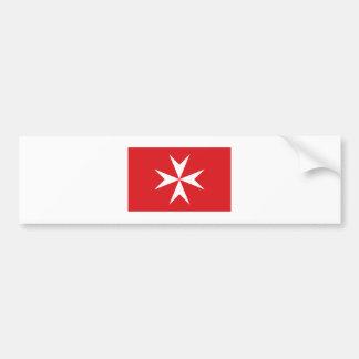 Malta civil ensign bumper sticker