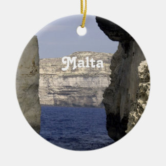 Malta Coast Christmas Ornament