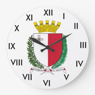 Malta* Coat of Arms Clock
