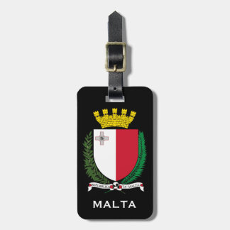 Malta* Coat of Arms Luggage Tag