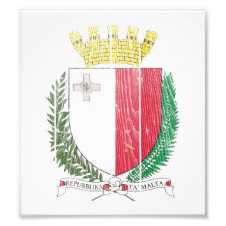 Malta Coat Of Arms Photograph