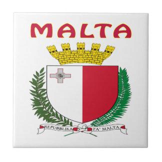 MALTA Coat Of Arms Tile