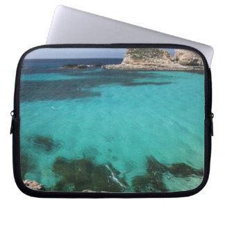 Malta, Comino Island, The Blue Lagoon Laptop Sleeve