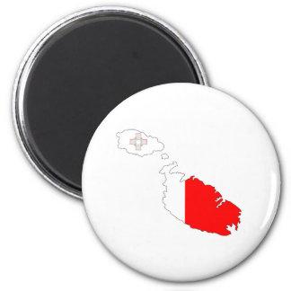 malta country flag map shape silhouette symbol magnet