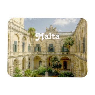 Malta Courtyard Rectangular Photo Magnet