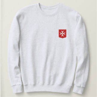 Malta cross embroidered sweatshirt