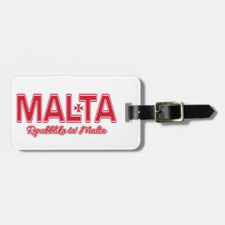 MALTA custom luggage tag