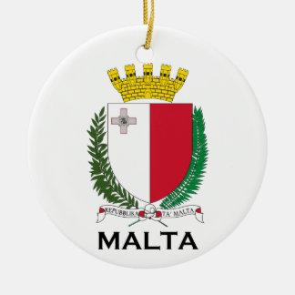 MALTA - emblem/coat of arms/symbol/flag Christmas Ornament