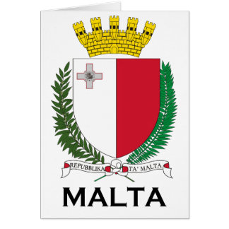 MALTA - emblem/coat of arms/symbol/flag Greeting Card