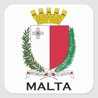 MALTA - emblem/coat of arms/symbol/flag Square Sticker