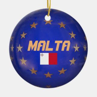 Malta EU Flag Custom Christmas Ornament
