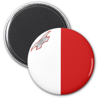 Malta Fisheye Flag Magnet