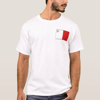 Malta Flag and Map T-Shirt