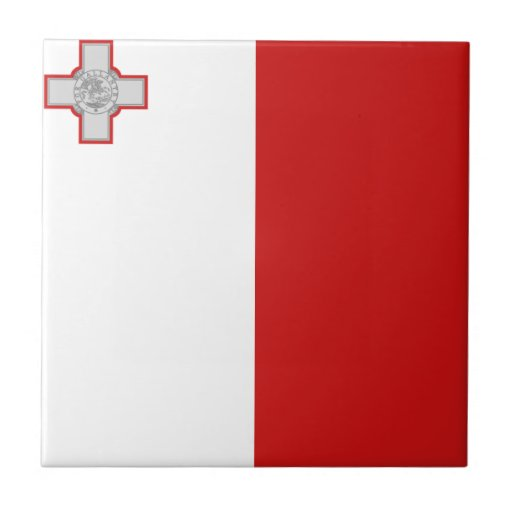 Malta Flag Ceramic Tile