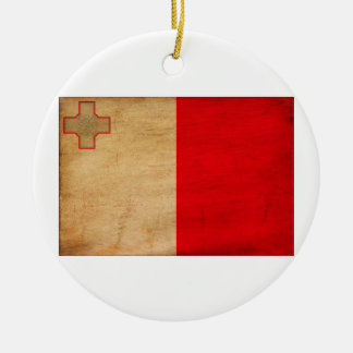 Malta Flag Christmas Ornament
