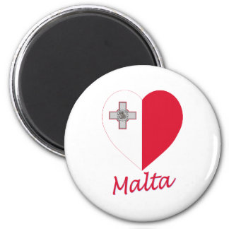 Malta Flag Heart Magnet