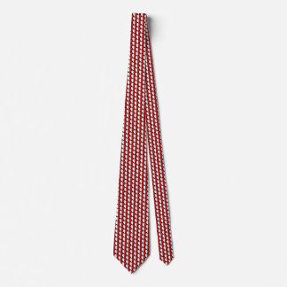 Malta Flag Hearts Tie