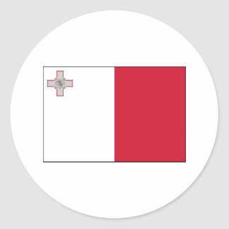 Malta FLAG International Round Sticker