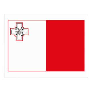 Malta Flag (light) Postcard
