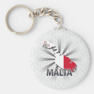 Malta Flag Map 2.0 Key Ring