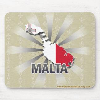 Malta Flag Map 2.0 Mouse Mat