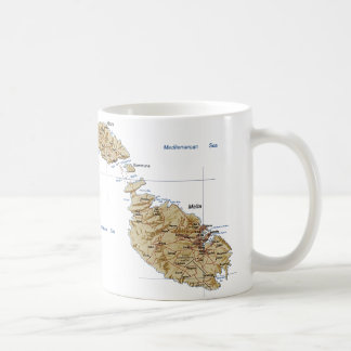 Malta Flag ~ Map Mug