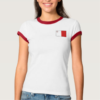 Malta Flag + Map T-Shirt