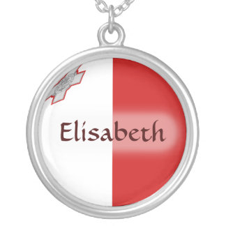 Malta Flag + Name Necklace