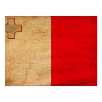 Malta Flag Postcard