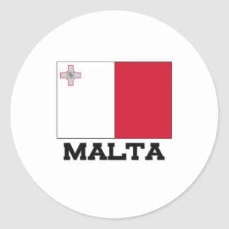 Malta Flag Round Sticker