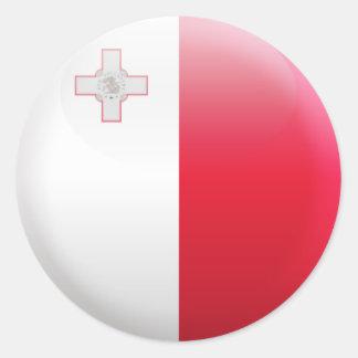 Malta Flag Round Sticker
