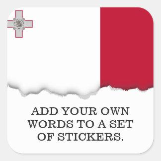 Malta flag square sticker